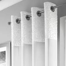 elegant madeira ring top voile curtain panel white