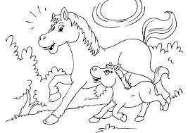 Kleurplaat Paard En Veulen Afb 25967 Images