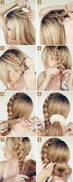braids with bun updo tutorial