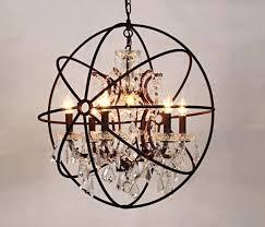 lighting extraordinary orb chandelier with crystals 16 table lamp black vintage crystal hanging globe rustic chandeliers