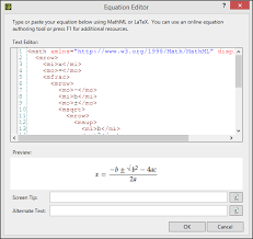 here is an example of a latex equation pasted into flare s equation editor