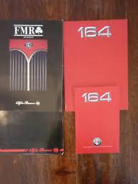 Details About Alfa Romeo 164 Press Kit Italian Text 1987 Brochure Colour Chart Magazine