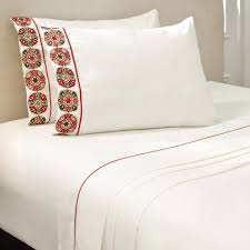 white bed sheets. Marsala White Bed Sheets Set - Clearance