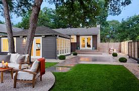 Landscape Exterior Design Modern Home Landscaping Pictures Pertaining To  Ideas Green Front Yard For Country Of