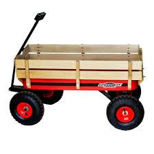 capacity all terrain wooden racer wagon