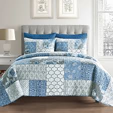 blue cotton quilt. Plain Blue Ariel Cotton Quilt In Blue Inside O