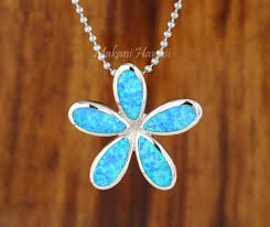 27mm sterling silver opal inlaid hawaiian plumeria pendant makani hawaii hawaiian heirloom jewelry wholer and manufacturer
