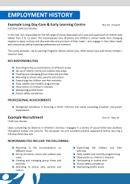 Cv Template For Care Assistant Cosyume Childminder Cv Examples About Child Care Worker