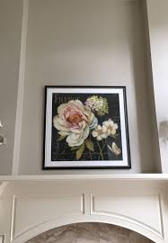 enlarged flower photograph framed with glass for in woodinville wa offerup