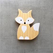 lovely wooden fox kids room ornament