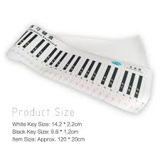 Melodica Finger Chart Classic Version 88 Key Keyboard Piano Finger Simulation Practice Guide Teaching Aid Note Chart For Beginner Student