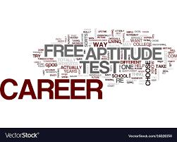 Career Aptitude Test Free Career Aptitude Test Text Background Word Vector Image 17