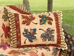 68 best Quilts Leaves images on Pinterest | Autumn quilts, Fall ... & Autumn Inspiration: 5 Free Fall Quilt Patterns Adamdwight.com