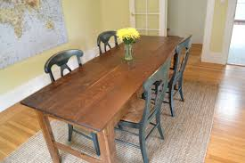 Country Kitchen Dining Table Farmhouse Dining Table With Bench Large Size Of Rustic Teak Wood