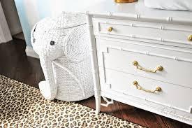Interesting Elephant Wicker Hamper Ideas For Best Home Furniture Decor:  Pretty White Stained Elephant Wicker