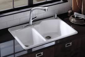 white kitchen sink. Kohler Kitchen Sink Drains White