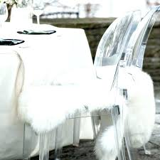Faux  Fur Chair Throw H23