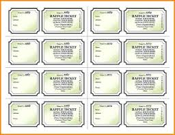Make Free Tickets Free Templates For Raffle Tickets Printable Ticket Template