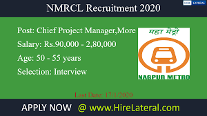 Web Designer Jobs In Nagpur Nmrcl Recruitment 2020 Apply 2 Latest Nmrcl Vacancies
