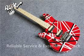custom chinese guitars evh wolfgang left handed guitar stripes paint right hand available