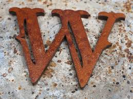 amazing rustic metal faced wooden letters in pertaining to plan 5