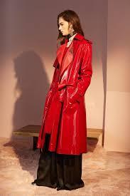 jil sander lanvin red patent leather coat