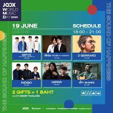 Macrowave - วันนี้ เวลา 20.00 น. รอชม Mirrr ในเทศกาลดนตรีออนไลน์สุดยิ่งใหญ่ JOOX  World Music Day 2020 บน JOOX กัน😁 มาร่วมเฉลิมฉลองวันดนตรีสากลใน  #JOOXWorldMusicDay2020 สนุกกับเทศกาลดนตรีออนไลน์ 3 วันเต็ม!!  พร้อมทัพศิลปินไทยและอินเตอร์กว่า 30 ชีวิต ที่ ...