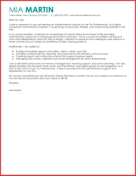 Luxury Administrative Assistant Cover Letter Templates Personal
