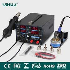 <b>YIHUA 853D</b> 1A 4 LED with USB new type 3in1 rework station with ...