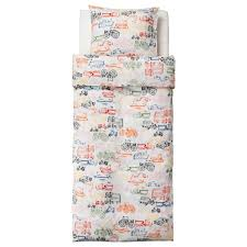 ikea ljudlig transportation kids childrens twin 2pc duvet quilt cover set trucks cars planes more