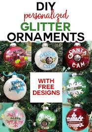 You can download in.ai,.eps,.cdr,.svg,.png formats. Diy Glitter Ornaments With Layered Vinyl Jennifer Maker Glitter Ornaments Diy Christmas Ornaments Homemade Personalized Christmas Ornaments