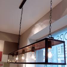 authentage vitrine 5 light kitchen island pendant black