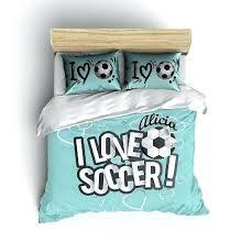 soccer bedding twin custom soccer bedding soccer comforter soccer duvet personalized soccer