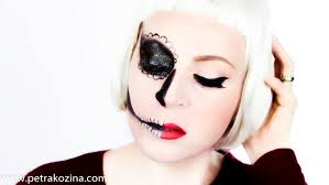 sugar skull makeup half face photo 1
