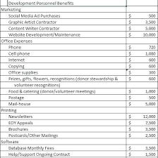 Sample Budget For Non Profit Organization Organization Budget Template Excel Templates For Nonprofit