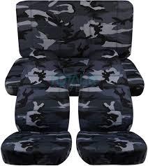 gray camo car seat covers