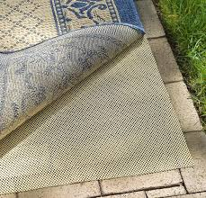 recommended for area rugs placed over outdoor hard surfaces