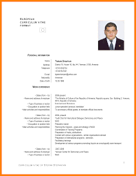 Std Resume Format Standard Resume Format Doc Sufficient Pictures Cv In English Example 20