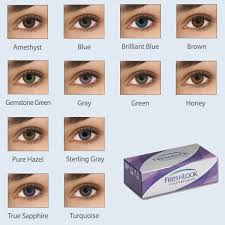 Freshlook Colorblends Toric Color Chart Freshlook Colorblends Coloured Monthly Lenses With Dark