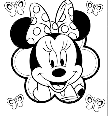 Minnie Mouse Coloring Pages Online Mickey And Birthday Cake Pictures