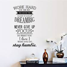 4 size wall decals quotes work hard vinyl wall sticker letras decorativas office home decoration wall on wall art words stickers with 4 size wall decals quotes work hard vinyl wall sticker letras