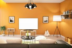 rec room furniture. Colorful Orange Walls In Rec Room Furniture A