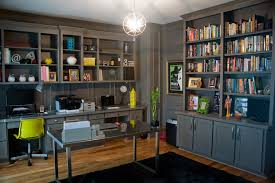 Open space home office Wall Home Office Decor Ideas Home Office Contemporary With Built In Open Space The New York Times Home Office Decor Ideas Home Office Contemporary With Black Rug Open