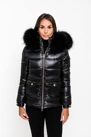 black down coat black fur zoom
