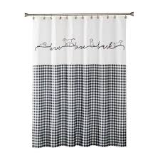 Image Bathroom The Home Depot Farmhouse Dogs 72 In Black Shower Curtain