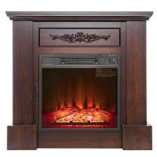 freestanding electric fireplace insert heater in black