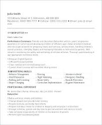Babysitter Resume Objective Unique Babysitter Resume No Experience For A Nanny Orlandomovingco