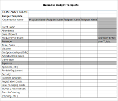 sample business budgets sample business budget template adktrigirl com