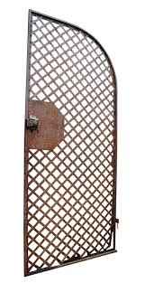 antique wrought iron gate or woven lattice garden trellis olde good things