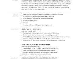 Makeup Artist Resume Example Makeup Artist Resume Examples Sample Mesmerizing Sephora Resume